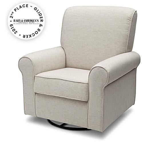 Delta Children Avery Upholstered Glider Swivel Rocker Chair, Sand (Upholstered Glider)