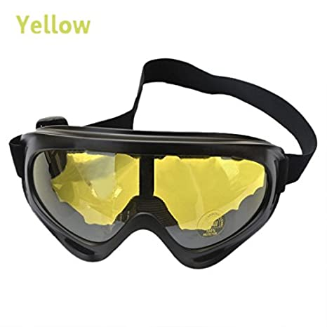dc80672a47 Buy TOOGOO(R) UV400 Ski Snowboard Goggle Snowmobile Motorcycle Eyewear  Protective Glasses Lens - Yellow Online at Low Prices in India - Amazon.in