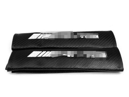 A Pair Car Parts Cool carbon fiber Seat belt Cover Shoulder Pad Pads Fit For C 63. CLS 63. S 65. SL 63. SLK 55. SLS. ML 63. G 55