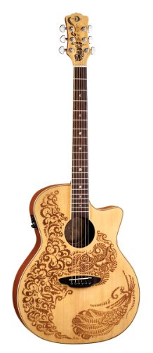 - Luna Henna Series Paradise Spruce Acoustic-Electric Guitar - Natural