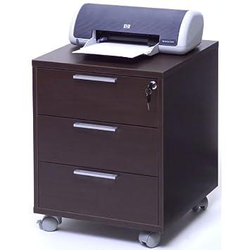 Cassettiera scrivania ufficio studio ruote chiave legno for Cassettiera amazon