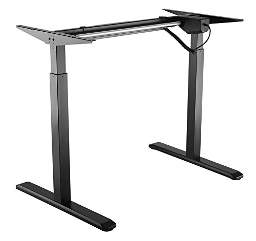 PrimeCables Electric Adjustable Height Standing/Sit-Stand 2-Stage Telescopic Single-Motor Desk Frame