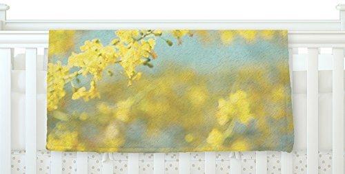 KESS Yellow InHouse Sylvia Coomes Yellow Blooms B077ZMYY5D 2 Blue x Yellow Fleece Baby Blanket 40 x 30 [並行輸入品] B077ZMYY5D, Shop-Polori:cde387f3 --- itxassou.fr