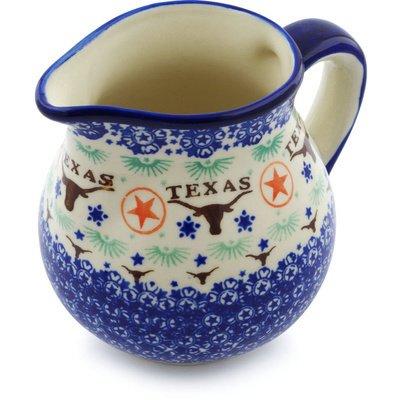 Polish Pottery Pitcher 46 oz Texas State