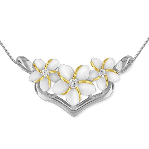 Sterling Silver Plumeria Necklace Extender product image