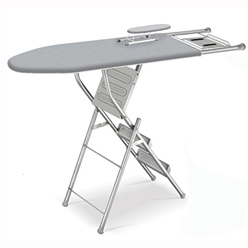 Lihao-tyb Multifunctional Folding Ironing Board Home Folding Ironing Board Household Freight Elevator Ironing Clothes Iron Rack (Color : Silver)