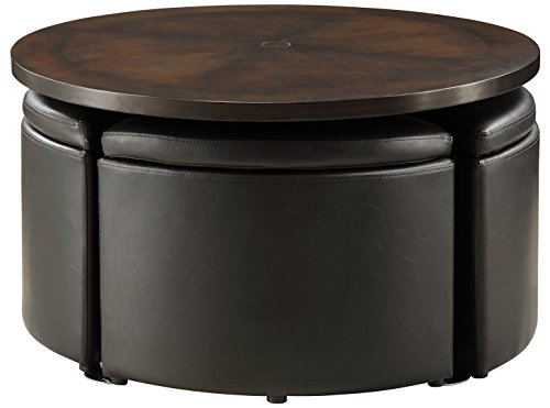 Homelegance Set Coffee Table - Home Creek Hydraulic Lift Cocktail Table with Storage Ottomans