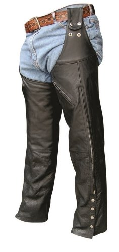 Unisex Adult AL2419 Leg Warmer Chaps X-Small Black by Allstate Leather