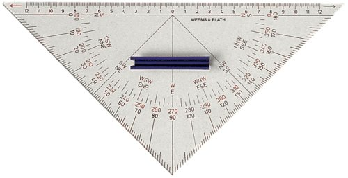 Weems & Plath Marine Navigation Protractor Triangle with Han