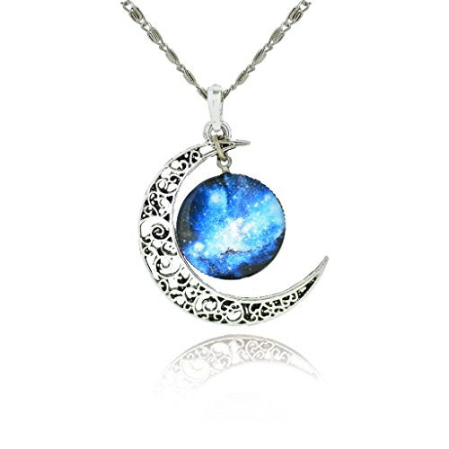jiayiqi-womens-charming-blue-star-crescent-moon-galactic-universe-cabochon-pendant-necklace