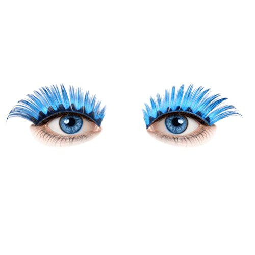 [Honhui A Pairs Fashion Women Halloween Stage Party Makeup Artistic Black Waves False Fake Eyelashes] (Popular Female Halloween Costumes 2017)