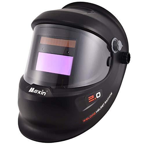 Holulo True Color Solar Powered Auto Darkening Welding Helmet, Wide Shade 4/9-13 Welding Hood for TIG MIG ARC Weld Helmets (800 UpGrade)