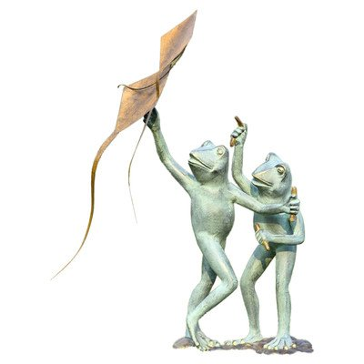 Frog Kite Flyers Garden Statue by SPI home