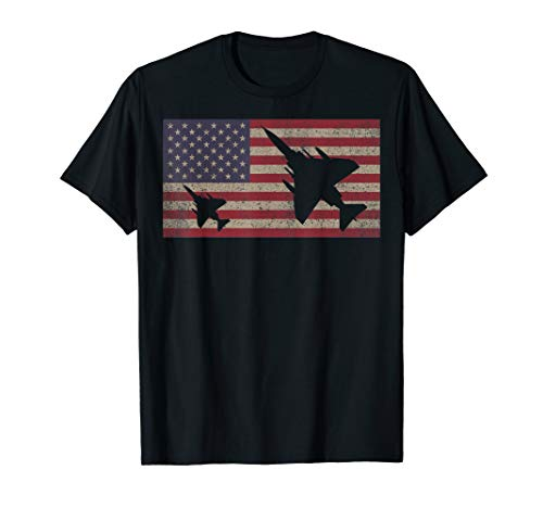 (F-4 Phantom II Jet Fighter Plane USA Patriotic Flag Gift T-Shirt)