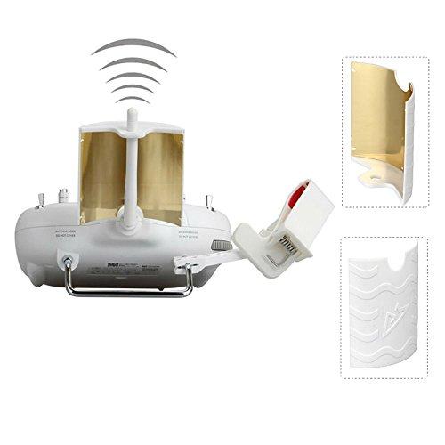 Standard Transmitter - RCGEEK Range Extender Signal Booster Antenna Copper Parabolic Compatible with DJI Phantom 3 Standard Phantom 3 SE Remote Controller
