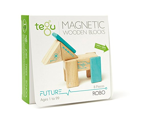 Tegu Robo Magnetic Wooden Block Set RBO-TL1-405T