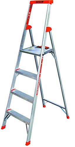 Shelf Open Center Production - Flip-N-Lite 300-Pound Duty Rating 6-foot Stepladder with Platform