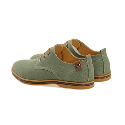 De Toile Classiques Vert Lacets À Hommes Sport Chaussures Inlefen Mode Uwgxn5qFp