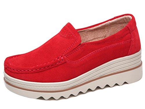 (ダダウン)DADAWEN  レディース ウォーキングシューズ 厚底 スニーカー 美脚 歩くやすい 軽量 コンフォート 通勤靴