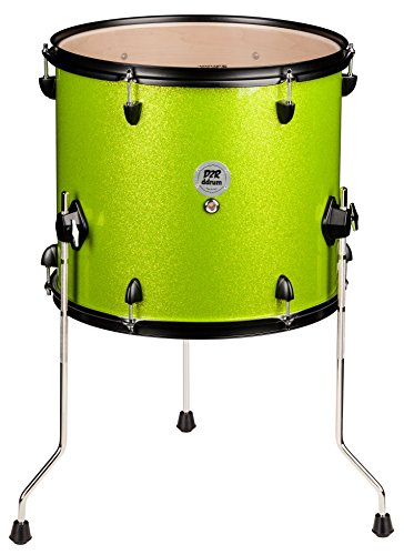 ddrum D2R FT 12X14 LIME SPKL Series Sparkle Floor Tom Drum Set, Lime