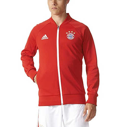 adidas Men's FC Bayern Munich Anthem Track Jacket (2X-Large) Red
