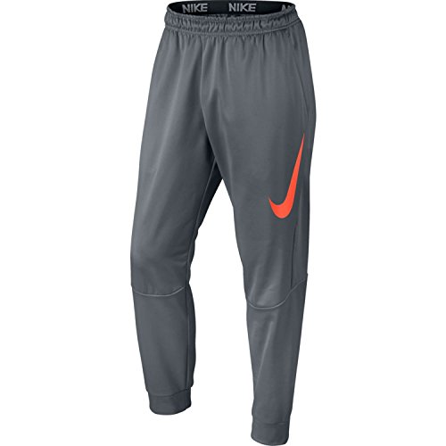 Nike Mens Therma Tapered Graphix Training Sweatpants Cool Grey/Hyper Crimson 800317-065 Size Small