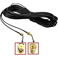 Lsgoodcare 10M Black RP-SMA Male to Female Wifi Antenna Connector Extension Cable