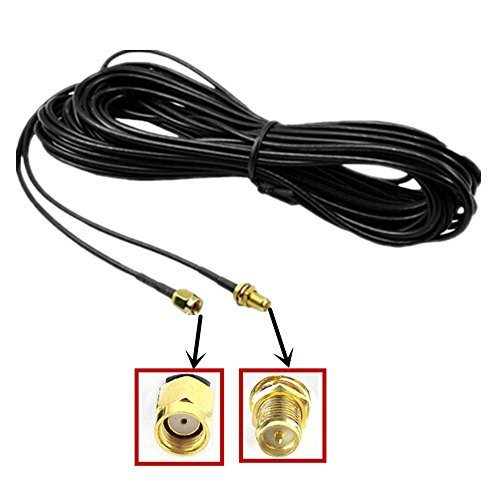 Wifi Antenna Extension - Lsgoodcare 10M Black RP-SMA Male to Female Wifi Antenna Connector Extension Cable