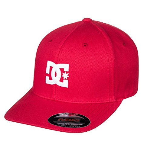 DC Shoes Mens Shoes Hat Star 2 - Flexfit Hat - Men - L - Red Tango Red L/XL from DC