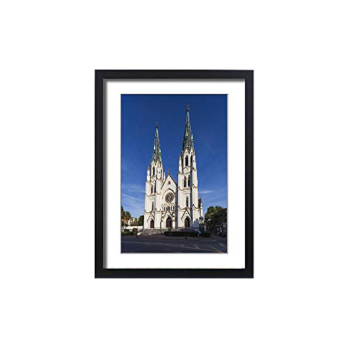 Media Storehouse Framed 24x18 Print of USA, Georgia, Savannah, Cathedral of St. John The Baptist, Exterior (12633101)