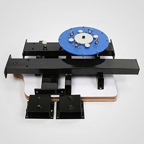 6 Color 6 Station Double Wheel Screen Printing Machine T-shirt Heavy Duty DIY