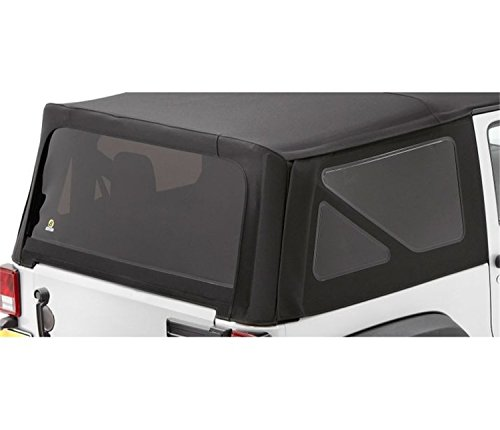 Bestop 58129-35 Black Diamond Tinted Window Kit Sailcloth Replace-A-Top for 2007-2010 Wrangler JK 2-Door