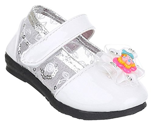 Kinderschuhe Ballerinas Mit Deko Verzierte Weiß