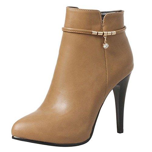 Apricot Women Size Extra Zipper Bootie Fashion 2 KemeKiss ZAwYRqHR