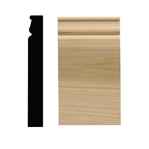 Ornamental Mouldings 743PB 1-1/16 in. x 4-1/2 in. x 8 in. White Hardwood Plinth Block Moulding ()