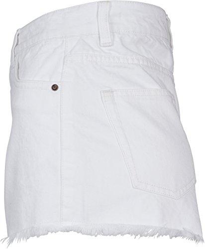 Bianco Ladies Pantaloncini 00220 Donna Denim Classics Urban white Hotpants Rnf44q
