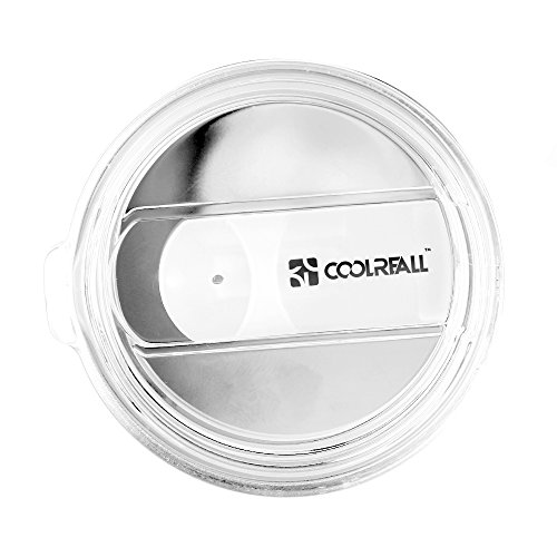 30 OZ YETI Lid, Coolreall Replacement Splash Proof Lid for 30 OZ YETI Rambler Tumbler, Open - Close Slide Lids, Crystal Clear Splash Resistant Cover (Only Lid)