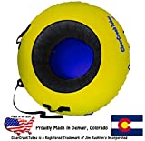ClearCreekTubes Huge Snow Tube and Cover Combo-yellow/blue