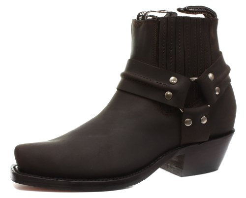 Harness Biker Boot - Grinders 490 Harness Lo Mens Cowboy Biker Boots UK 9