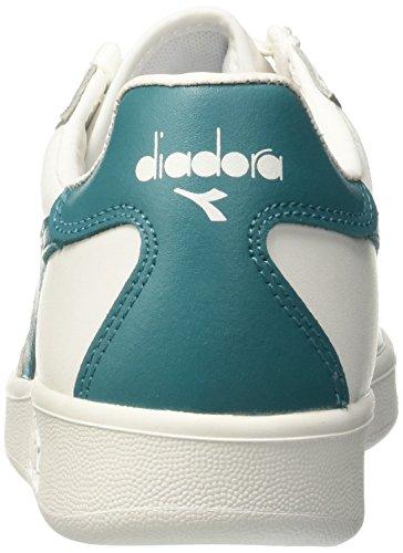 Diadora Unisex-Erwachsene B.Elite Pumps Elfenbein (Bianco/verde Blu-capri)
