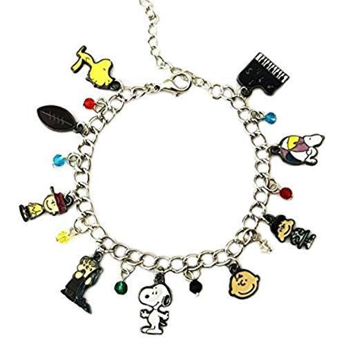 Athena Brand Charlie Brown Snoopy Charm Bracelet Quality Cosplay Jewelry Cartoon TV Series with Gift Box -