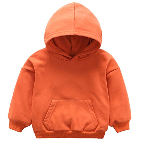 Infant Pullover - NANVII Baby Girl Boy Hoddie,Baby Pullover Cotton Hoodie with Pocket,Solid Hoodie for Infant Orange