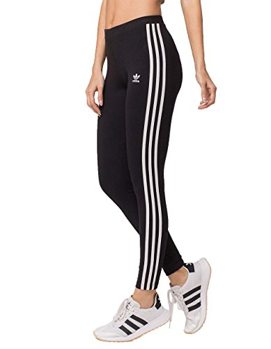 adidas Originals Women's 3-Stripes Leggings, Black/Trefoil Stripe, X-Large (US Size) (US Size)