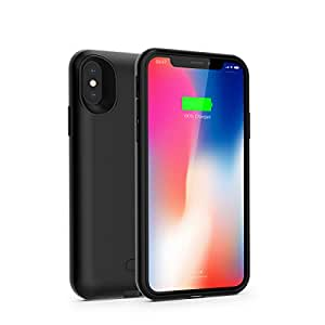 Capshi 3600mAh Wreless Charging iphone X Battery Case-Black