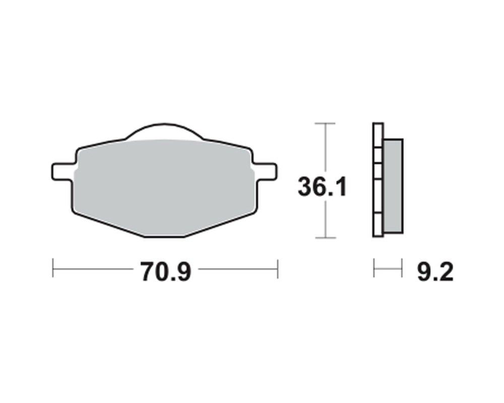 hinten 3UW 91- Bremsbel/äge TRW MCB 539 f/ür YAMAHA XT 600 K 3TB