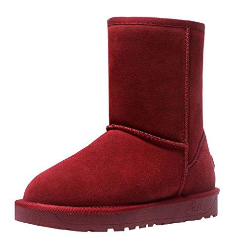 Les Bottes Et D'hiver De Rouge De Bottes Femmes Bordaient Entièrement Evedaily La Neige Haut Neige Fourrure De Classique Hommes qIO6p4
