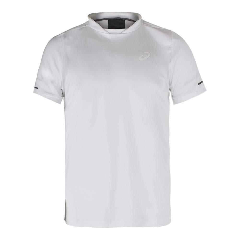 AsicsメンズAthlete Short Sleeve Top XX-Large Real White B01N7FSMC3, タカシミズマチ a9130011