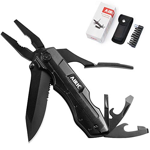 (Multitool Pocket Knife Multi-Purpose Folding Knives Pliers Kit, 10-in-1 Multitools-Non Slip ,Safety Lock ,Tactical tools Kit With Screwdriver/Driver Bit for Outdoor Survival,Camping, Hiking,Hunting)