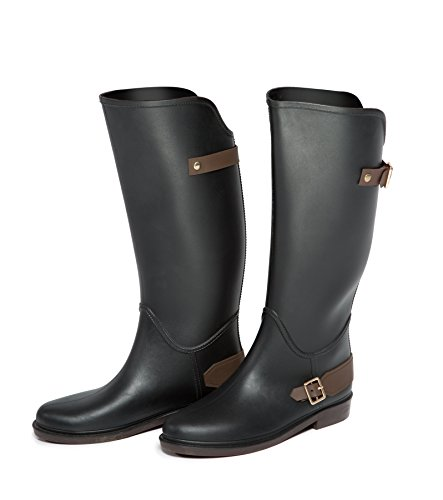 Festival Wellington Style Black Riding Ladies Sizes 3 Buckle With 7 Boots UK qqCfHarw