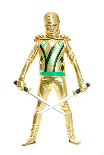 Charades Child Golden Ninja Series III Costume, Gold, X-Large -